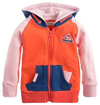 Noppies Baby - Mädchen Weste 35461-G Cardigan sweat Block, Gr. 110, Rot (coral)