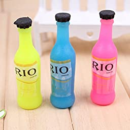 3 Pack Eraser Glow In The Dark Drifting Bottle Shape and Also As Decoration Best Gift For Your Child