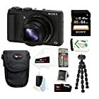 Sony DSC-HX50V/B Cyber-shot 20.4MP High Zoom Digital Camera Bundle with 16GB SD Memory Card + Memory Card Reader-Writer + Soft Carrying Case + 7 Spider Tripod and Accessories