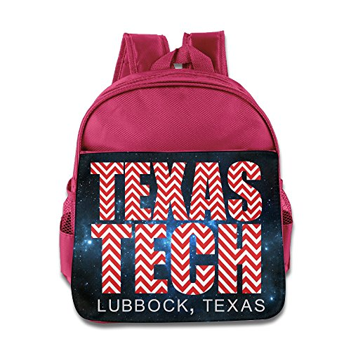 [Texas Tech Chevron Lubbock Texas Kids School Pink Backpack Bag] (Make Shoulder Pads Football Costume)