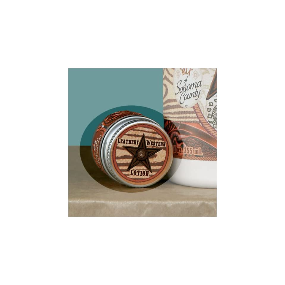 Dolce Mia Barn Star Leathery Western Shea Butter Natural Lotion With Organic Botanicals .25 oz. Jar