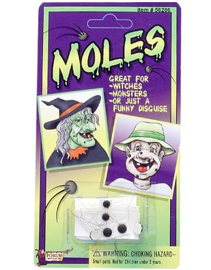 4 Witch Monster Halloween Costume Accessory Hairy Moles
