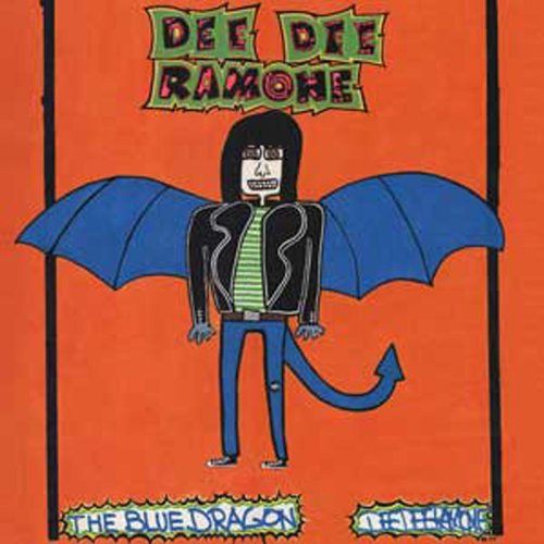 Licenses Products Dee Dee Ramone Blue Dragon Magnet - 1