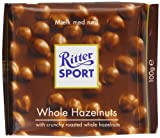 Ritter Sport Whole Hazelnuts 100 g (Pack of 5)
