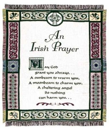 An Irish Prayer Religious Afghan Throw Blanket 48
