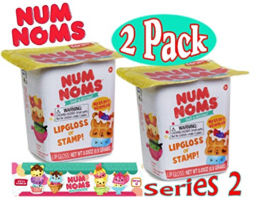 Num Noms Blind Bag Mystery Packs Series 2 Gift Set Bundle - 2 Pack