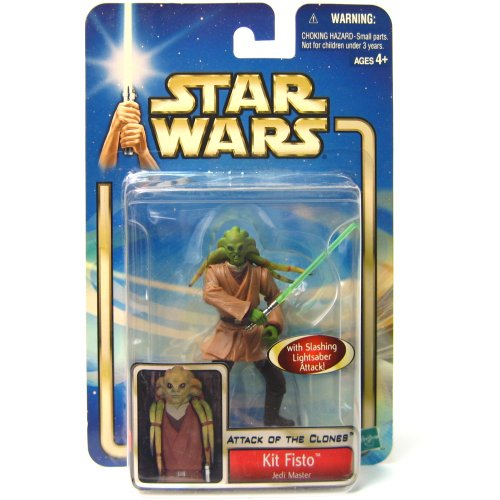 Star Wars 2002 AOTC Kit Fisto Carded