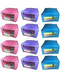 Abhinidi Non-Woven Utility Bag Multipurpose Large 10inc Saree Covers - 12 Pcs Capacity 10-15 Units Saree Each