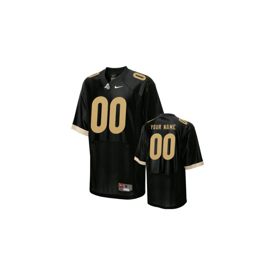 a4510c82e Purdue Boilermakers Football Jersey Customizable Nike Black Replica ...