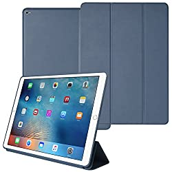 DMG Smart Case Cover for Apple iPad Pro with Auto Sleep/Wake Function, Slim-Fit, PU Leather (Pebble Blue)