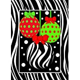 Merry Christmas Zebra Ornaments 28 Inch By 40 Inch Large Decorative Flag Winter Christmas