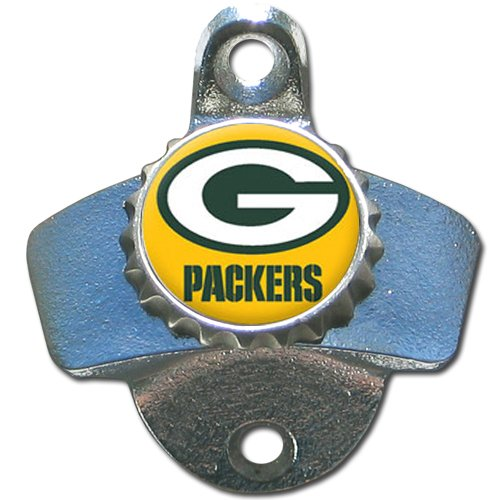 Green Bay Packers Wall Mount Metal Bottle Opener NFL Football For Pub Bar  Kitchen