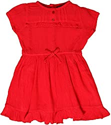 Sequences Girl's Dress(Red, 9 - 10 Years )
