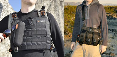 Ventra Pack 2-in-1 Chest Pack / Slim Shoulder Sling Messenger Bag