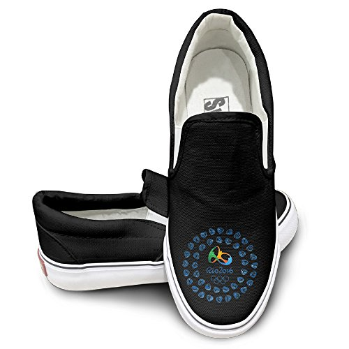 [PTCY 2016 Sports Items Logo Fashion Unisex Flat Canvas Shoes Sneaker 39 Black] (Official Elvis Presley Microphone)
