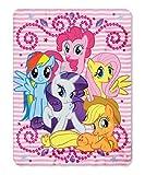 "My Little Pony Sparkle Ponies Fleece Throw Blanket 46"" by 60"""