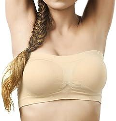 BYC TB-1007 Beige Non-Padded Tube Bra for Girl's & Women-32