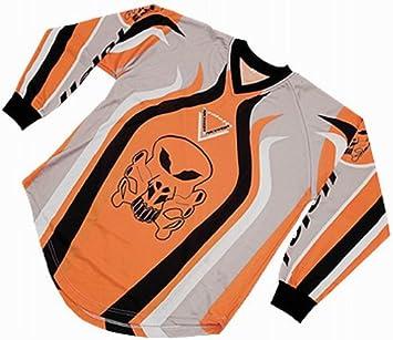 Roleff Racewear 8533 T-shirt Motocross, Orange/Noir, M