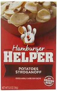 Betty Crocker Hamburger Helper Potatoes Stroganoff, 5-Ounce Boxes (Pack of 12)