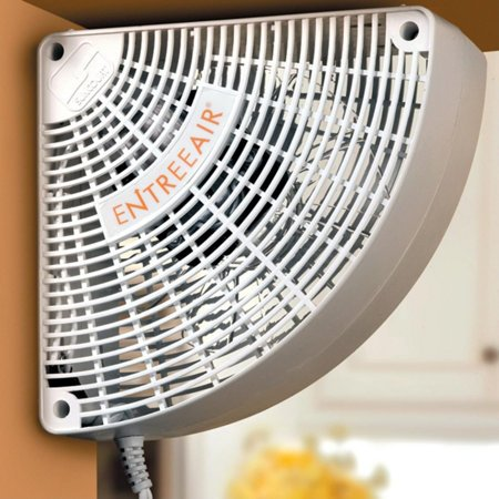 Whisper Quiet Compact Electric Doorway Room to Room Fans | This Small Efficient Space Saving Fan Will Circulate & Move that Warm Air 120 Cu. Ft. per Minute into an Adjoining Rooms and Mounts Easily | Perfect for Your Home Office, Kitchen and Garage