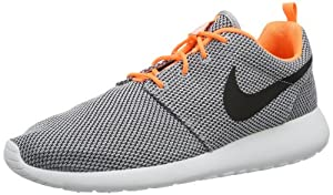 Nike Rosherun Men Shoes Sneakers Wolf Grey/Atomic Orange/White/Black 511881-080 (SIZE: 9)