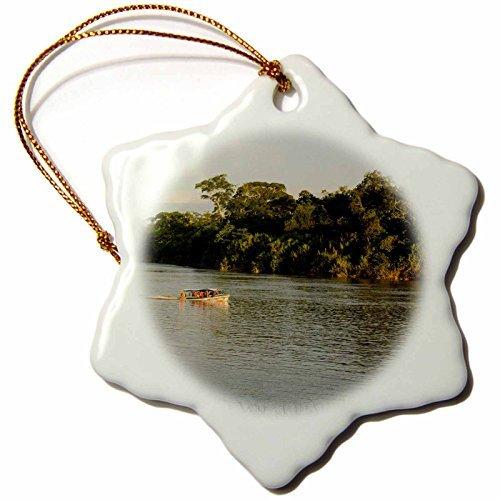 Ornaments to Paint Danita Delimont - Boats - Speed boat, Napo River, Amazon Rainforest, Ecuador. South America - (Rain Globe Seattle compare prices)