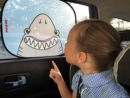123t ANI-MATES DINOSAUR PLAIN Baby/Child Vehicle Sunshade x 2