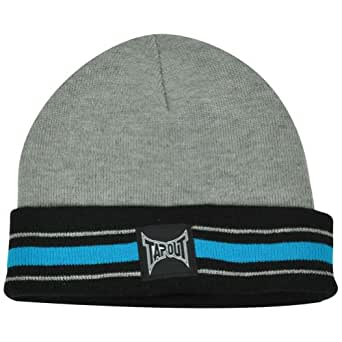 ufc mma cage fight tapout cuffed striped toque beanie