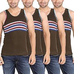 Zippy Men's Android Sleeveless Green Vest (Pack of 4)