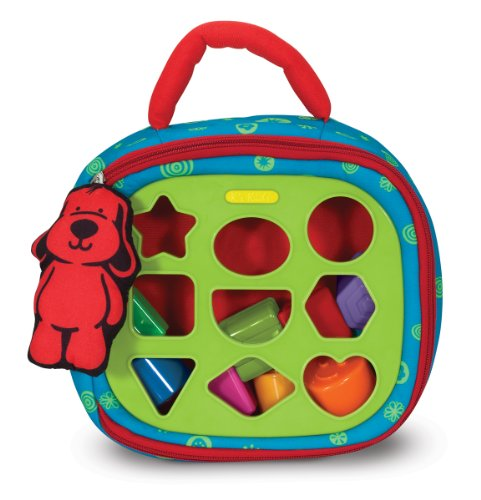 Melissa & Doug K's Kids Take-Along Shape Sorter Baby Toy With 2-Sided Activity Bag and 9 Textured Shape (Thing 1 And Thing 2 Costume Ideas)
