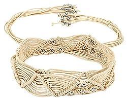 Jainsons Women's Belt (DTP_BELT_1069_1--32, Beige, 32)