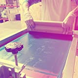 "Sci-Fi and Fantasy ""Star Wars Tie Fighter Cutaway"" Design Art Poster - 11 x 17 inch Silk Screen Print - Orange Fizz - White Ink"