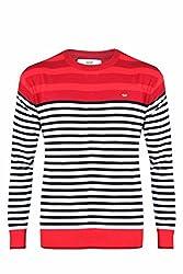 UV&W Full Sleeve Round Neck Men's Mehroon Sweater