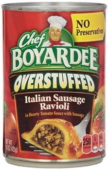 buy Chef Boyardee Big Overstuffed Italian Sausage Ravioli, 15-Ounce Cans (Pack Of 12)
