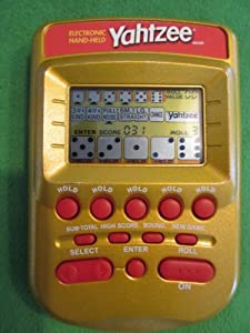 YAHTZEE Electronic Handheld Game (Gold Case Edition) from Milton Bradley