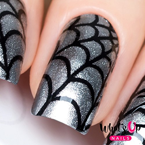 Halloween Nail Art Designs Without Nail Salon Prices: Spiderweb Nail Art Decals