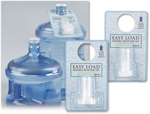 Easy Load Reusable No Splash Cap (Snap On) (Water Cooler Bottle Caps compare prices)