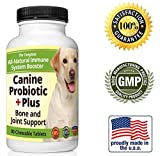 Chewable Dog Probiotic - All-Natural Immune System Boost - Digestive Enzymes Protect Joints and Relieve Diarrhea Gas - 90 Unscented Tablets - 7.5 Billion CFU Pet Supplement - Made in the USA