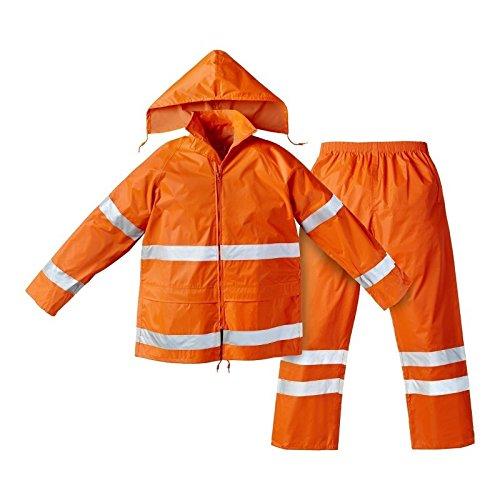 Completo Impermeabile Arancio Con Bande Rifrangenti 3M - M, Arancio