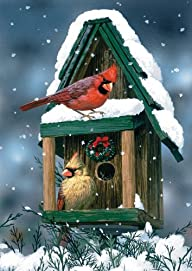 Toland Home Garden Cardinals in Snow…