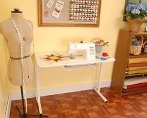 Arrow Gidget Adjustable Sewing Machine Storage Craft Project Table Desk White