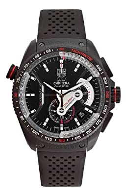 TAG Heuer Men's CAV5185.FT6020 Grand Carrera Automatic Chronograph Black Dial Watch by Tag Heuer