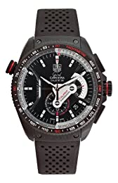 TAG Heuer Men s CAV5185 FT6020 Grand Carrera Automatic Chronograph Black Dial Watch
