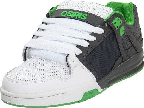Osiris Unisex - Adults Pixel- Sports Shoes - Skateboarding 602386 Charcoal-Green-White 9 UK