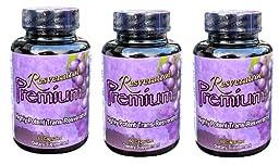 3 months 1000 mg Resveratrol Premium (3 Bottles)