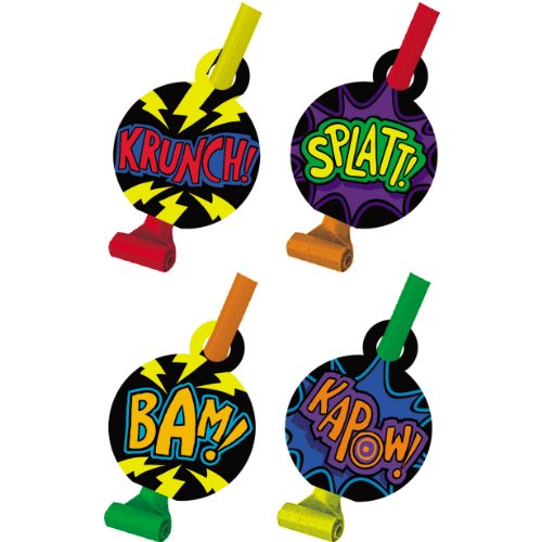 Super Hero Fun 3D Blowouts Party Accessory