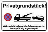 Hinweisschild 300x200 mm, stabile Aluminiumverbundplatte 3mm Parkverbot, Privatparkplatz, Parken...