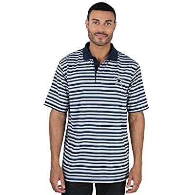 Dallas Cowboys Mens Dayton Striped Short Sleeve Polo (Navy)