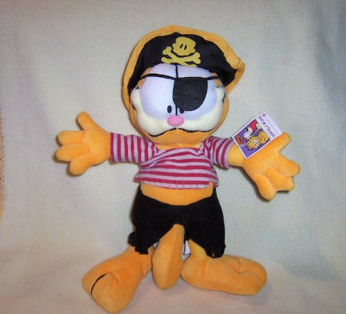 "12"" GARFIELD THE PIRATE Stuffed Plush NANCO PAWS - 1"