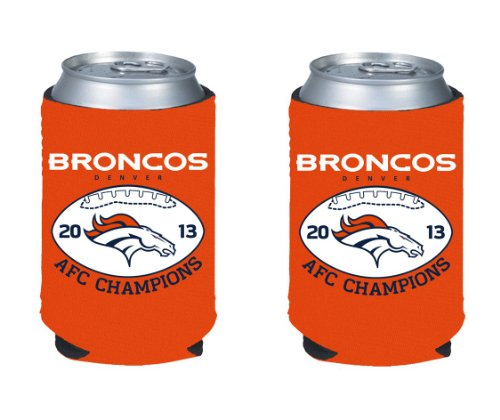2013 - 2014 Denver Broncos AFC Conference Champions NFL Can Kaddy Holder Koozie 2-Pack at Amazon.com